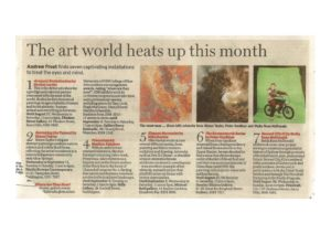 thumbnail of Andrew Frost, 'The art world heats up this month' Sydney Morning Herald 12 August 2011