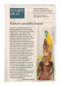 thumbnail of Ashleigh Wilson 'Out & About' The Australian 7 April 2011 p14