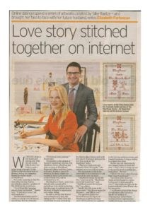 thumbnail of Elizabeth Fortescue 'Love story stitched together on internet', Daily Telegraph, 6 Dec 2010, p26
