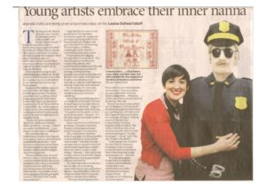 thumbnail of Louise Schwartzkoff, Young Artists embrace their inner nanna, Sydney Morning Herald, April 25