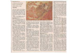 thumbnail of Tim Blue 'Time to brush up on your fine art portfolio', The Australian, p26